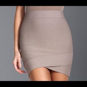 BCBG Sylvie bandage skirt - taupe